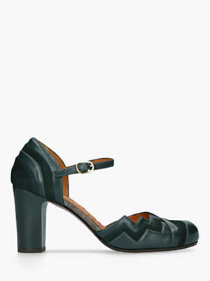 9672dcaba020 Chie Mihara Kiddy High Block Heel Ankle Strap Court Shoes
