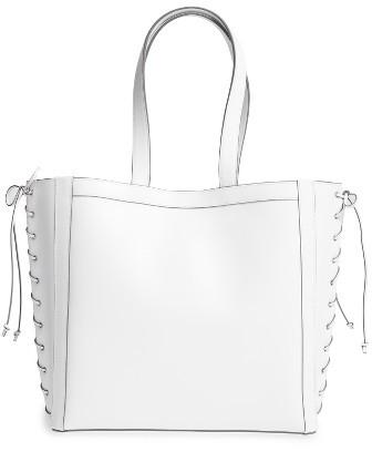 Max MaraMax Mara Large Leather Shopper - White