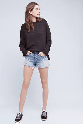 Levi's Wedgie Icon High-Rise Shorts $98 thestylecure.com