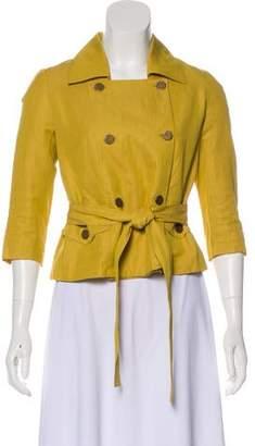 Robert Rodriguez Double-Breasted Linen-Blend Jacket