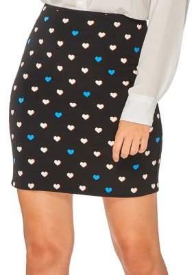 Dorothy Perkins Heart-Print Mini Skirt