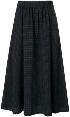 A.P.C. polka dot midi skirt