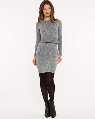 Le Château Cable Knit Sweater Dress