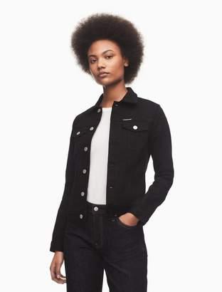 Calvin Klein black denim trucker jacket