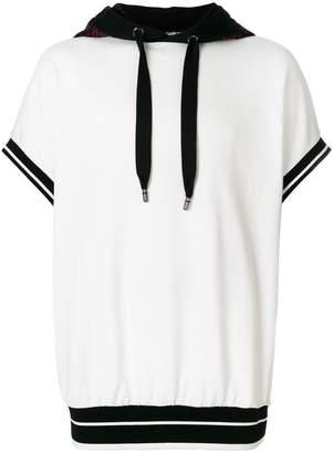 Dolce & Gabbana two tone short sleeve hoodie