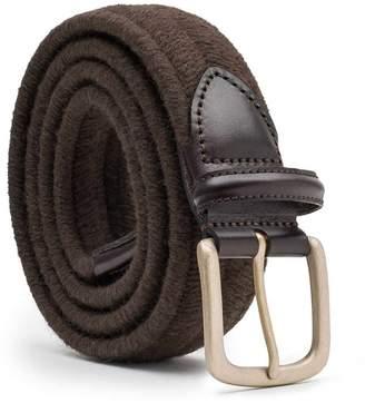 Dalgado - Elastic Braided Wool Belt Brown Rodolfo