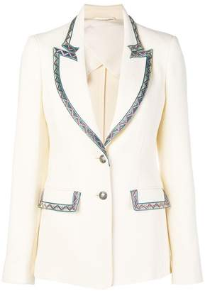 Etro contrast trim jacket
