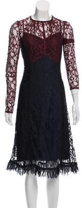 Louis Vuitton Lace Midi Dress