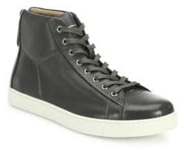 Gianvito Rossi Leather High-Top Sneakers