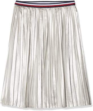 Tommy Hilfiger Girl's H Metallic Skirt (Silver 059) 176 (Size: 16)