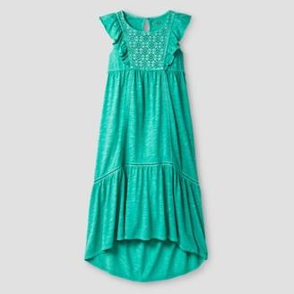 Cat & Jack Girls' Maxi Dress Cat & Jack - Jade Tree $16.99 thestylecure.com