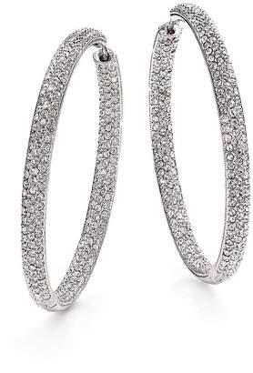 """Adriana Orsini Women's Pavé Silverplated Inside-Outside Hoop Earrings/1.75"""""""