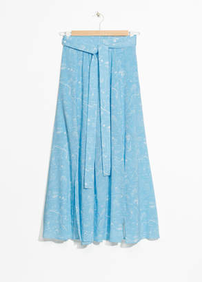And other stories Slit Crepe Skirt