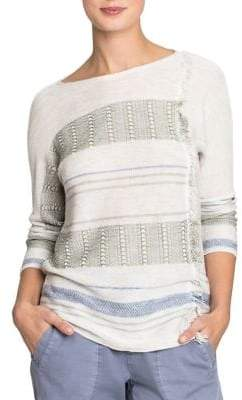 Nic+Zoe Fringed Knitted Pullover