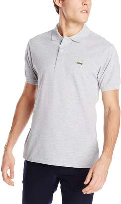 Lacoste Men's Short Sleeve Pique Classic Fit Chine Polo Shirt, L1264, Saphir