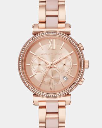 Michael Kors Sofie Rose Gold-Tone Chronograph Watch