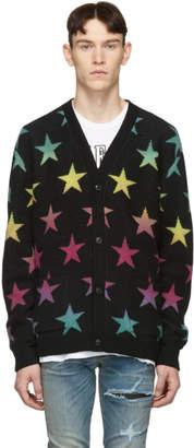 Amiri Black Cashmere Star Cardigan
