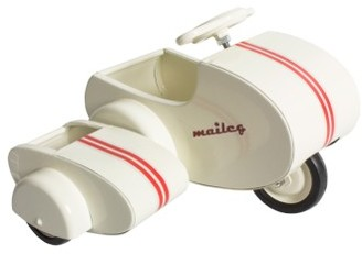 Infant Maileg Mini Mouse Scooter Toy With Side Car