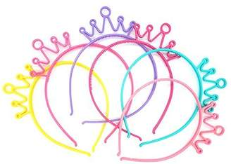 GTONEE Plastic Crown Headbands Tiara Hairbands for Kids and Adult 6pcs