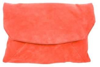 Narciso Rodriguez Suede Clutch Bag black Suede Clutch Bag