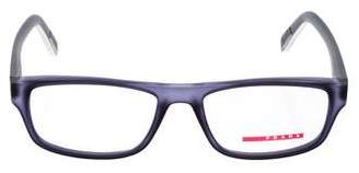 Prada Sport Rectangle Clear Eyeglasses