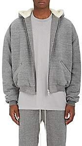 Fear Of God Men's Sherpa-Lined Cotton Terry Hoodie-Gray Size Xl