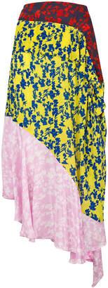 Preen Line floral asymmetric skirt