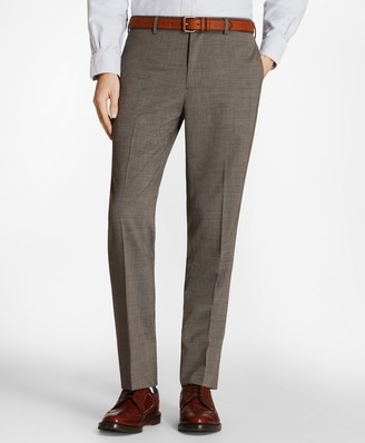 Brooks Brothers Multi-Check Wool Suit Trousers