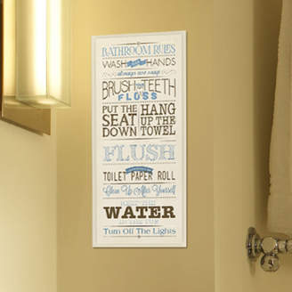Andover Mills 'Bathroom Rules' Textual Art on Wood