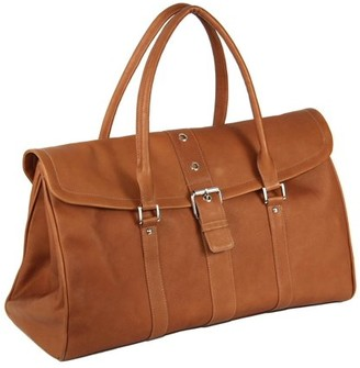 Piel Leather BUCKLE FLAP-OVER SATCHEL