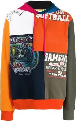 Amen patchwork hoodie