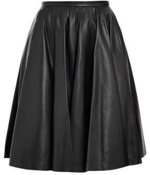 McQ Alexander McQueen Leather midi skirt