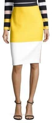 BOSS Vylotea Colorblock Pencil Skirt