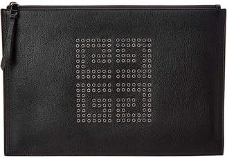 Givenchy 4G Eyelet Studded Leather Clutch