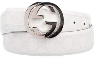 Gucci Logo Interlocking GG Belt