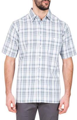 Haggar Microfibre Plaid Sport Shirt