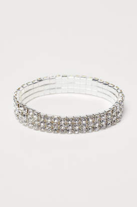 H&M Rhinestone Bracelet - Silver