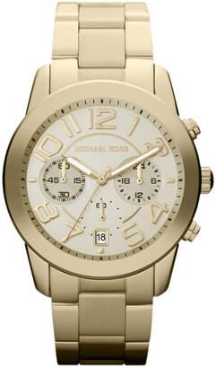 MICHAEL Michael Kors Mid-Size Golden Stainless Steel Mercer Chronograph Watch