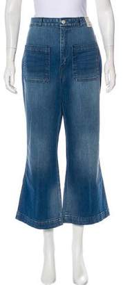 Amo Sailor High-Rise Cropped Jeans w/ Tags