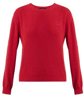 Rochas Logo Applique Cotton Sweater - Womens - Red