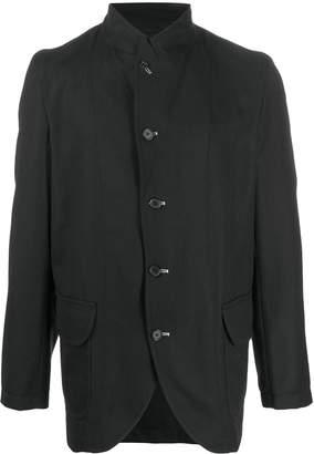 contrast stitch blazer