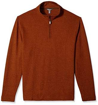 Van Heusen Men's Flex Long Sleeve 1/4 Zip Ottoman Solid Shirt
