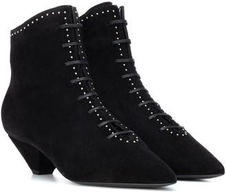 Saint Laurent Kate 45 suede ankle boots