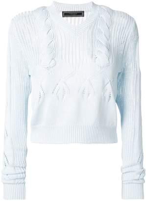 Versace V-neck knit jumper