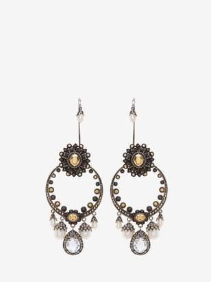 Alexander McQueen Jeweled Armor Earrings