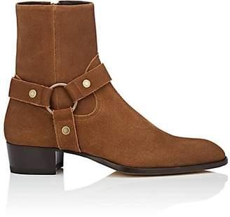 Saint Laurent Men's Wyatt Suede Boots - Beige, Tan