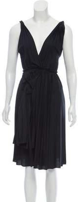 Tome Sleeveless Pleated Midi Dress