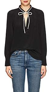 Derek Lam Women's Tieneck Blouse - Black