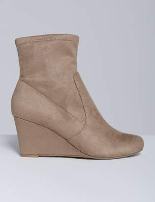 Stretch Ankle Boot with Wedge Heel