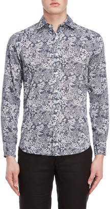 Ganesh Navy & Blue Floral Shirt